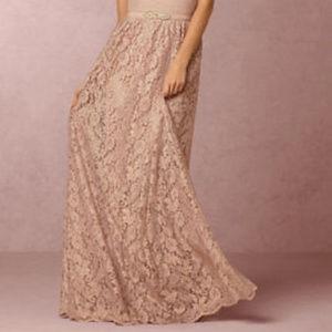 BHLDN Cambria Long Lace Skirt 4 NIP $225 Formal